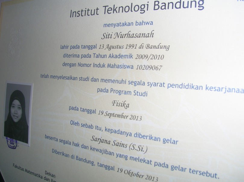 Siti Nurhasanah, S.Si